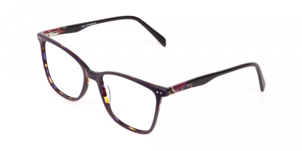 Designer Raisin Purple & Tortoise Eyeglasses Women-3