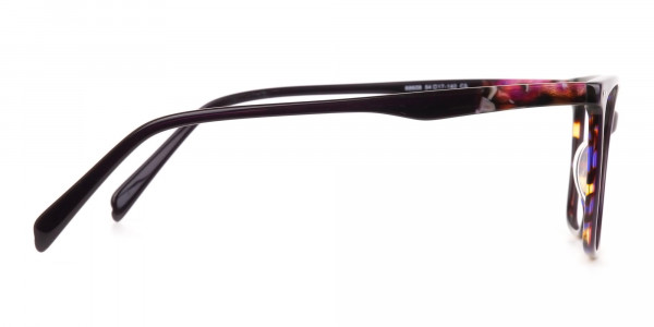 Designer Raisin Purple & Tortoise Eyeglasses Women-4