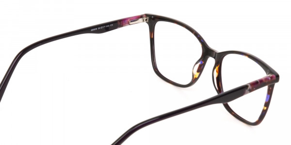 Designer Raisin Purple & Tortoise Eyeglasses Women-5