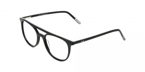 Black Acetate Aviator Spectacles - 3