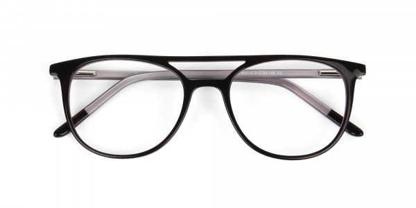 Dark Brown and Silver Lilac Aviator Spectacles - 6