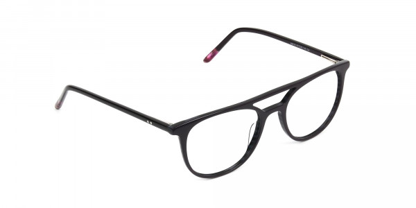 Violet Purple & Rose Red Aviator Spectacles - 2