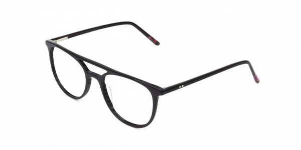 Violet Purple & Rose Red Aviator Spectacles - 3