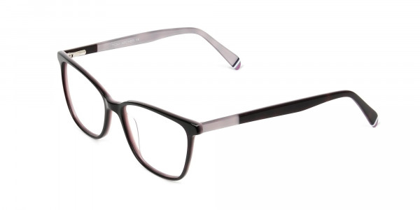 Dark Brown & Silver Lilac Rectangular Spectacles  - 3