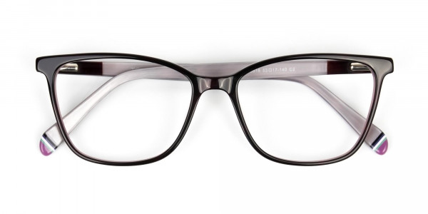 Dark Brown & Silver Lilac Rectangular Spectacles  - 6