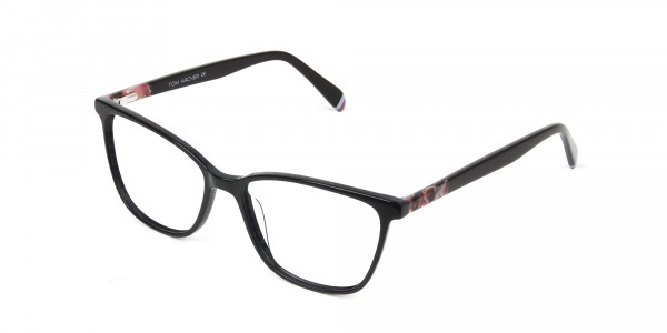 Dark Violet Rectangular Spectacles - 3