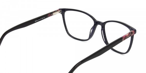 Dark Violet Rectangular Spectacles - 5