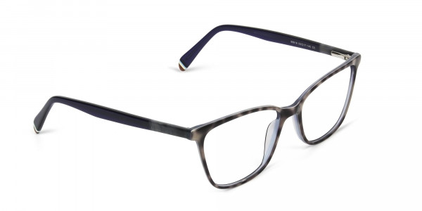 Blue Marble Grey Rectangular Spectacles - 2
