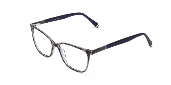 Blue Marble Grey Rectangular Spectacles - 3
