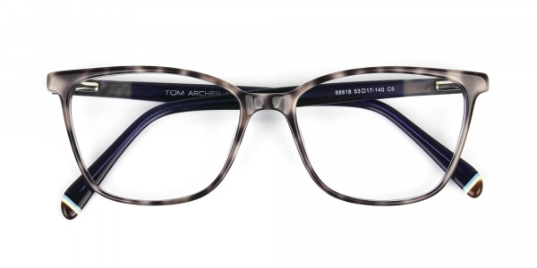 Blue Marble Grey Rectangular Spectacles - 6