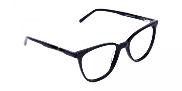 black cat eye glasses -2