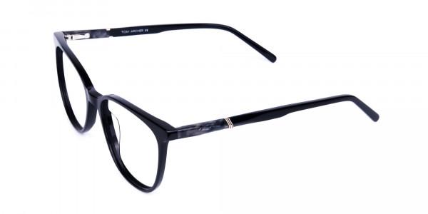 black cat eye glasses -3