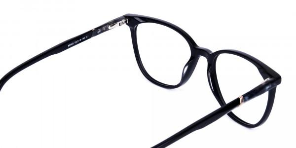 black cat eye glasses -5