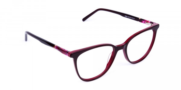 burgundy cat eye glasses -2