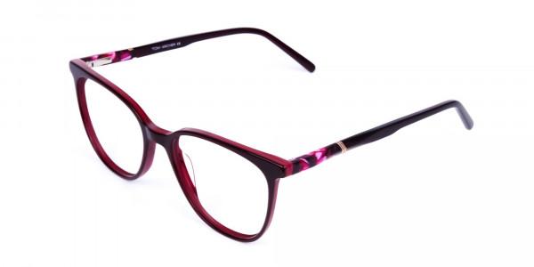 burgundy cat eye glasses -3