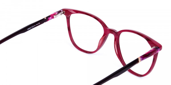 burgundy cat eye glasses -5