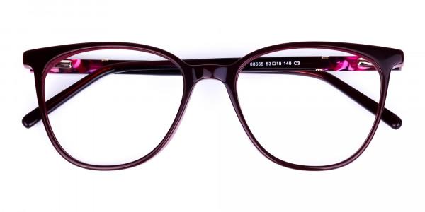 burgundy cat eye glasses -6