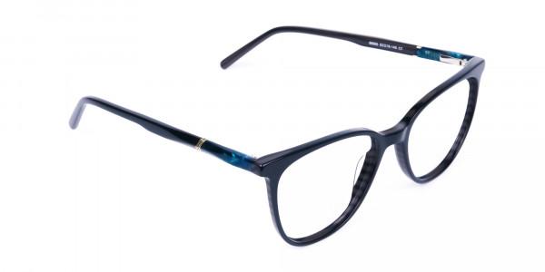 teal cat eye glasses - 2