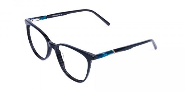 teal cat eye glasses - 3