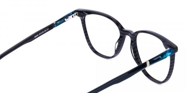 teal cat eye glasses - 5