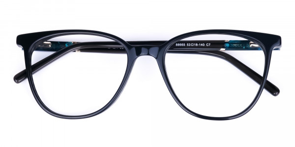 teal cat eye glasses - 6