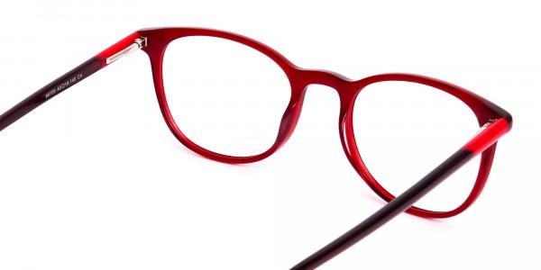 Wine-Red-Translucent-Round-Glasses-Frames-5