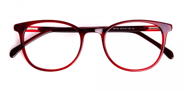 Wine-Red-Translucent-Round-Glasses-Frames-6