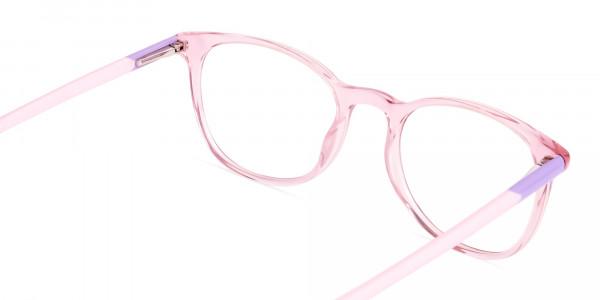 Crystal-and-transparent-blossom-Pink-Round-Glasses-Frames-5