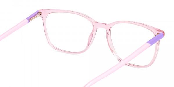 Crystal-Clear-or-Transparent-Blossom-and-Hot-Pink-wayfarer-Rectangular-Glasses-Frames-5
