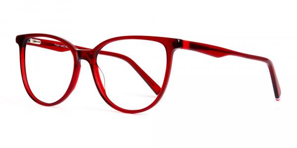 Dark-Red-Translucent-Cat-eye-Glasses-Frames-3