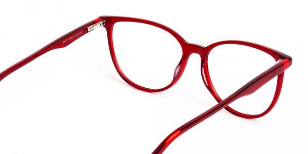 Dark-Red-Translucent-Cat-eye-Glasses-Frames-5