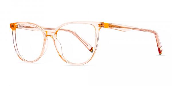 Orange-Colour-Crystal-Clear-or-Transparent-Cat-eye-Glasses-Frames-3