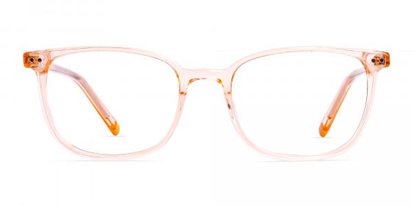 Crystal-clear-and-Transparent-Orange-Rectangular-Glasses-Frames-1