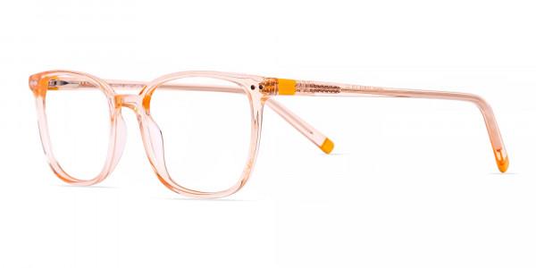 Crystal-clear-and-Transparent-Orange-Rectangular-Glasses-Frames-3
