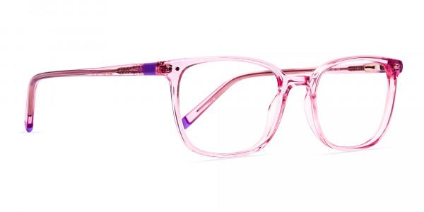 Transparent-Pink-Rectangular-Glasses-frames-2