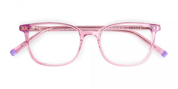 Transparent-Pink-Rectangular-Glasses-frames-6
