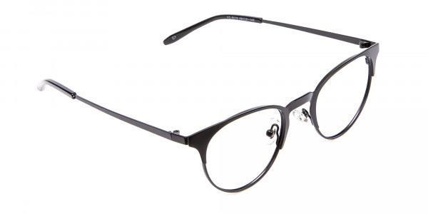 Black Cat Eye Eyeglasses Men -2
