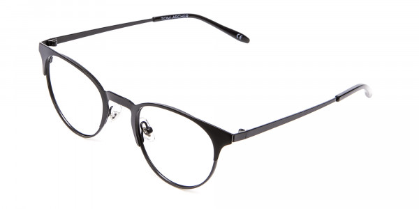 Black Cat Eye Eyeglasses Men -3