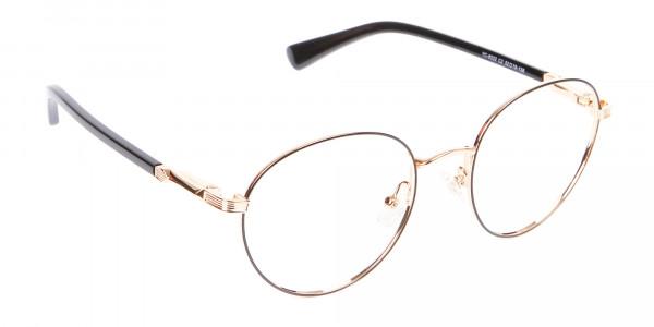 Round Gold Metal Eyeglasses Frame - 2