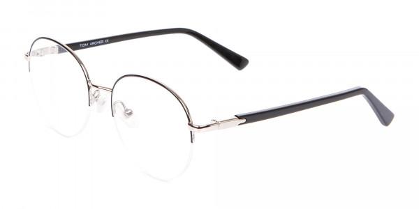 Premium Half-Rimmed Frame Silver-3