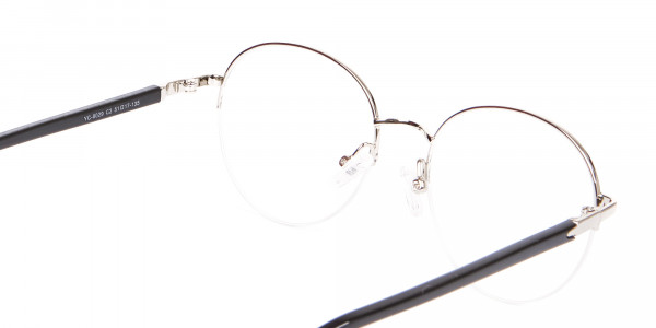 Premium Half-Rimmed Frame Silver-5