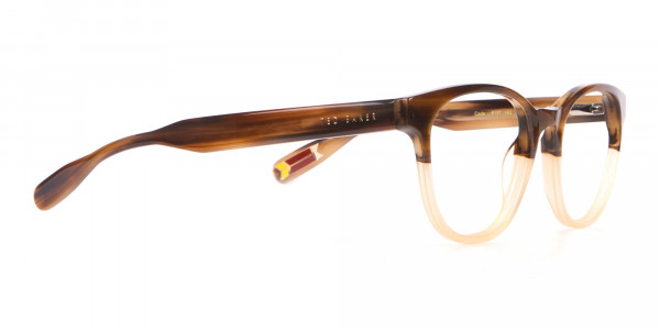 TED BAKER TB8197 Cade Glasses Classic Round Brown & Honey-2