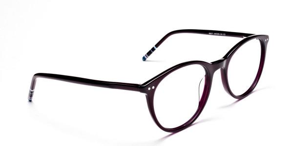 Purple Round cosmopolitan Eyeglasses -2