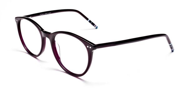 Purple Round cosmopolitan Eyeglasses  -3