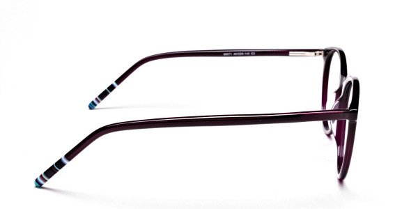 Purple Round cosmopolitan Eyeglasses  -4