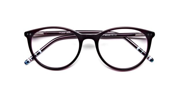 Purple Round Glasses, Eyeglasses -6