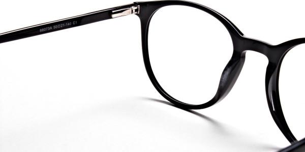 Black Round Glasses, Eyeglasses -4
