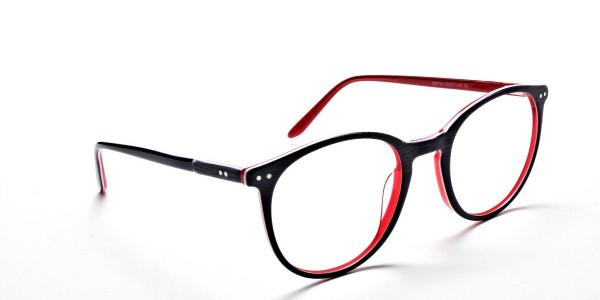 Royal Blue Round Glasses, Eyeglasses -2