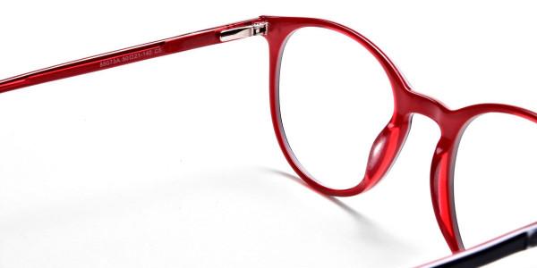 Royal Blue Round Glasses, Eyeglasses -4