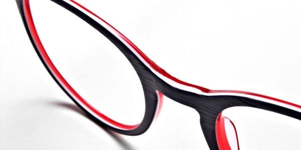 Royal Blue Round Glasses, Eyeglasses -5